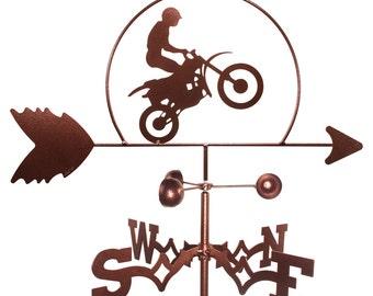 Hand Made Dirt Bike Motorcycle Weathervane NEW