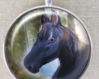 Horse Keychain ~ Birthday Gift ~ Pet Keepsake ~ June Birthday ~ Gifts for Him ~ Equine Gift