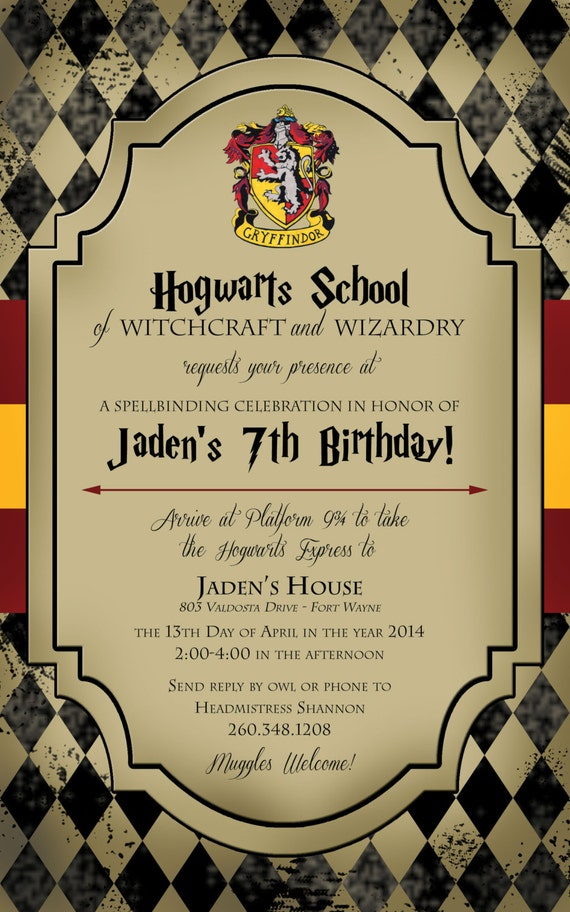 Harry Potter Party Invitations for your inspiration to make invitation template look beautiful