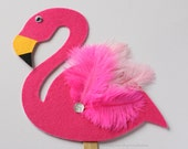 Photo Booth Props - Pink Flamingo - Palm Springs - Party Favor - Tropical - Summer