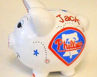Personalized Piggy Bank Philadelphia Phillies Baseball