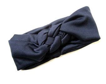 Sailor knot headband, nautical headband, Navy