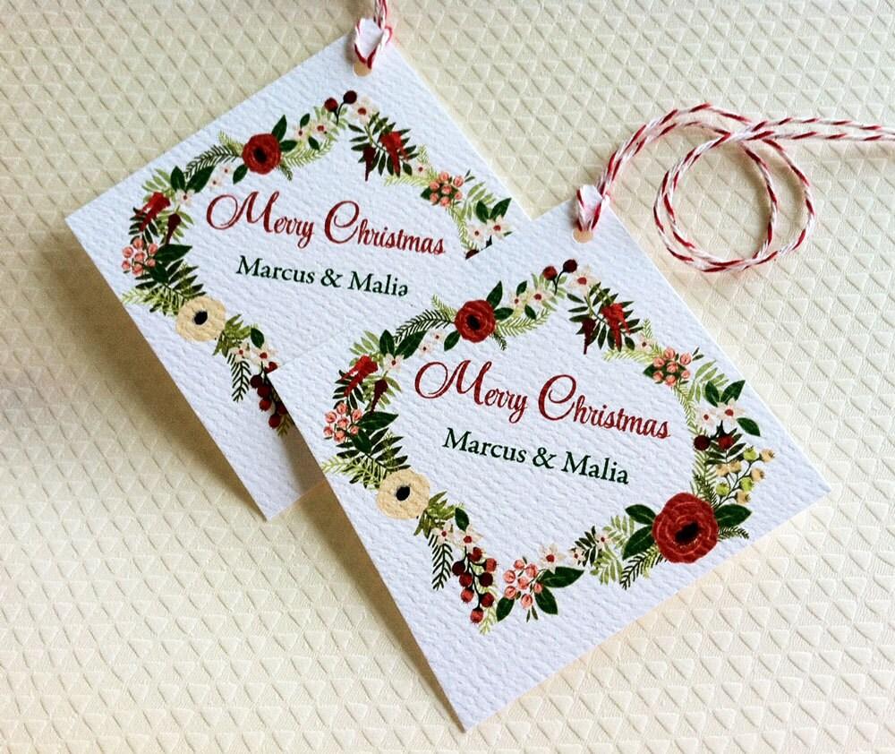 Personalized Christmas Gift Tags: Christmas Gift Tags Personalized Holiday Tags Gift Tags Set