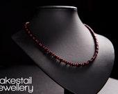Onyx & Red Glass Pearl Ne...