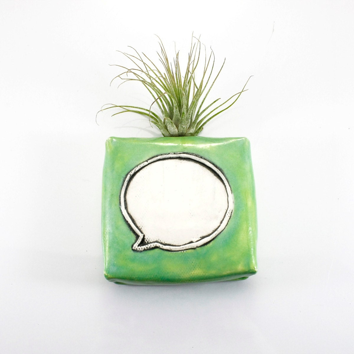 Message magnetic bud vase holds water flowers air plant pen for Air vase