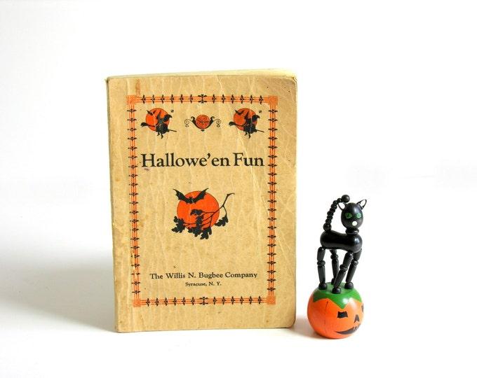 Vintage Halloween Party Book Hallowe'en Fun 1927 Games Fortunes Plays