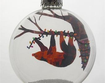 Little Sloth Christmas Holiday Ornament