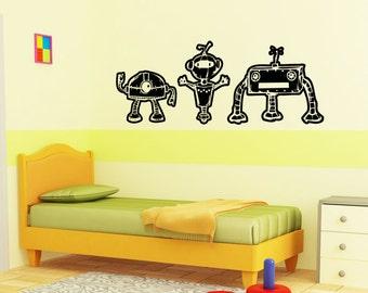Vinyl Wall Decal Sticker Little Robot Trio 5152m