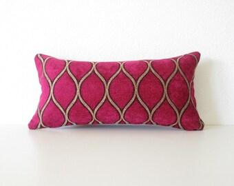 Iman Malta Tourmaline fuchsia gold designer decorative pillow cover