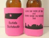 Personalized Bachelorette Party Can Coolers, Nashville Bachelorette Bridal Event Favors, Bachelorette Trip Accessories