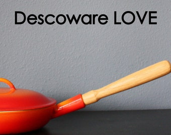 Descoware REPLACEMENT Handle for Descoware /// Solid Hardwood for Vintage Cookware Pots Pans & Skillets with FREE SHIPPING
