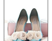 Wedding Shoes - Short Heel - Custom Wedding Shoes - Bespoke Wedding Shoe- Flower Wedding Shoe -Handmade Wedding Shoe - Low Heel Wedding Shoe