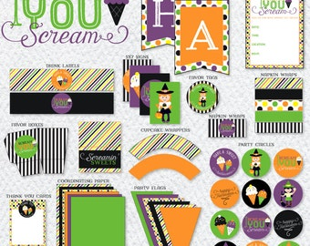 I Scream Halloween Party PRINTABLE Party from Love The Day