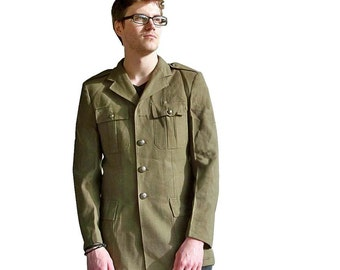 Vintage Army Surplus Dress Uniform Jacket - Snappy Military Style