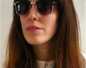 Vintage Deadstock Black Clubmaster Sunglasses