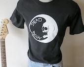 Dead Moon T shirt screen print  black short sleeve