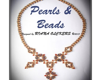 Beading pattern - Pearls and Beads  Peyote and RAW Necklace