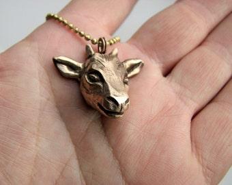 Goat head pendant