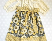 Mustard Blossom Dress - Girls Fall Dress - Baby Girl Fall Dress - Baby Girl Dresses -  Mustard Yellow Dress