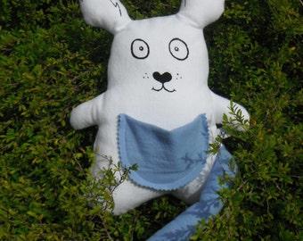 Joe Kangaroo hand screen printed on soft cotton flannel