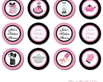 PRINTABLE Kitchen Bridal Shower Party Circles (Personalized) #808
