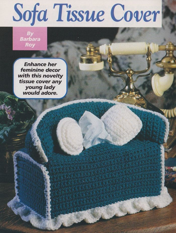 Sofa Tissue Box Cover Crochet Pattern By Paperbuttercup On
