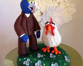 Specialty Muppet Keepsake Wedding Cake Topper