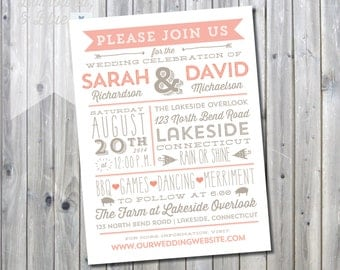 Printable Backyard BBQ Invitation Suite - Invitation and RSVP