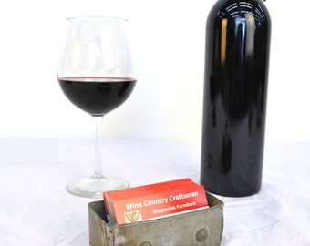 "Wine Barrel Ring Business Card Holder - ORGANIZER - ""Lohata"" - 100% recycled"