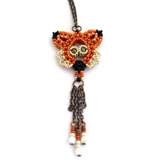 beaded fox necklace tutorial