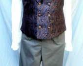 Mans Regency Fall Front Trousers Victorian Wedding Groom and Steampunk Cosplay