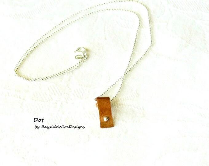 Dot Pendant, Minimalist Neckalce, Hipster Necklace, Fashion Necklace, Punk Necklace, Gift Idea