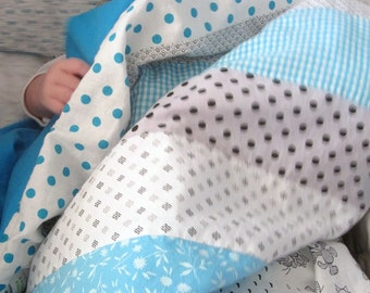 Sky Baby Modern cotton Quilt Blanket - baby shower gift ,playmate