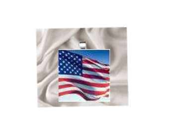 Pendant Necklace American Flag