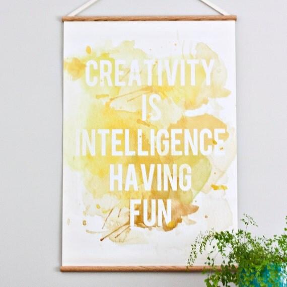 Creativity - Large canvas wall hanging