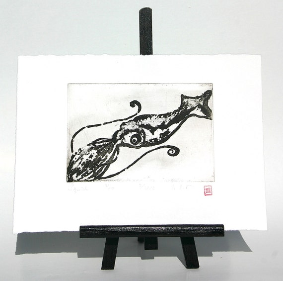 Squid - Original Etching