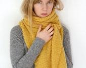 Beautiful cashmere mustard yellow big scarf