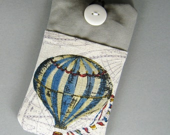 iPhone sleeve, iPhone pouch, Samsung Galaxy S3, S4, S5 Galaxy note, cell phone, ipod classic touch sleeve - Hot air balloon