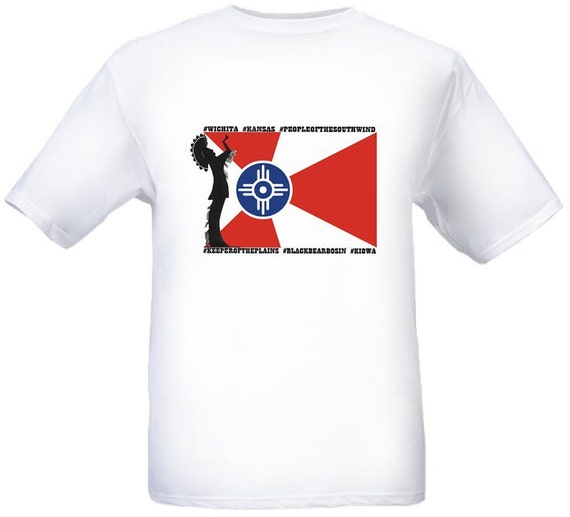 keeper of the plains t shirt city flag of by mymemorycollector