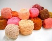 Vintage Yarn Mystery Box, Peach to Rust, Refresh Your Stash, 2 lbs of Yarn, Knitting Notions, Crochet Supplies
