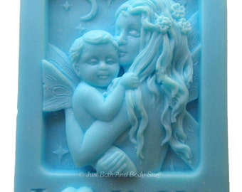 I Love Mom Fairy Handcrafted Novelty Soap Bar by Just Bath And Body Stuff / JBABS