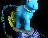 My Little Pony Alien Hat - blue pearl ooak art