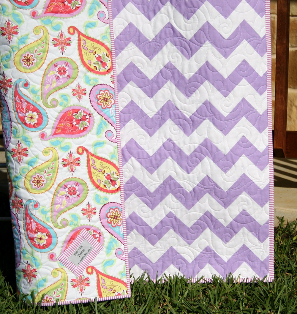 Baby girl paisley bedding -  Zoom