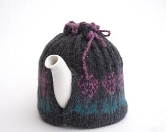Hand knit Fair Isle Tea Cosy