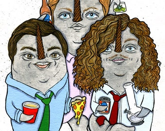The Workaholics boys as Narwhals