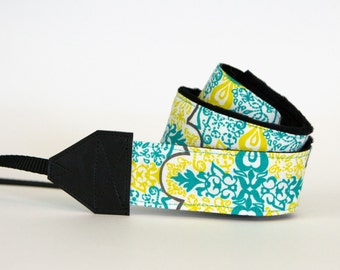 Camera Strap - dslr Camera Strap - Green Camera Straps - Birthday Gift - Gift for Mom - Gifts for Photographer - Graduations Gift - Izzy