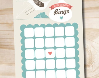 INSTANT DOWNLOAD Stork Baby Shower Bingo - Digital Download