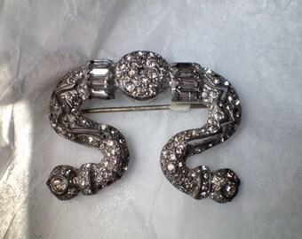Antique Art Nouveau FN Co.Brooch Pot Metal Edwardian Jewelry