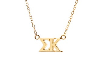 Sigma Kappa Gold Vermeil Lavalier Necklace
