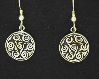 Sterling Silver  Six Swirl earrings on Sterling Silver French Wires